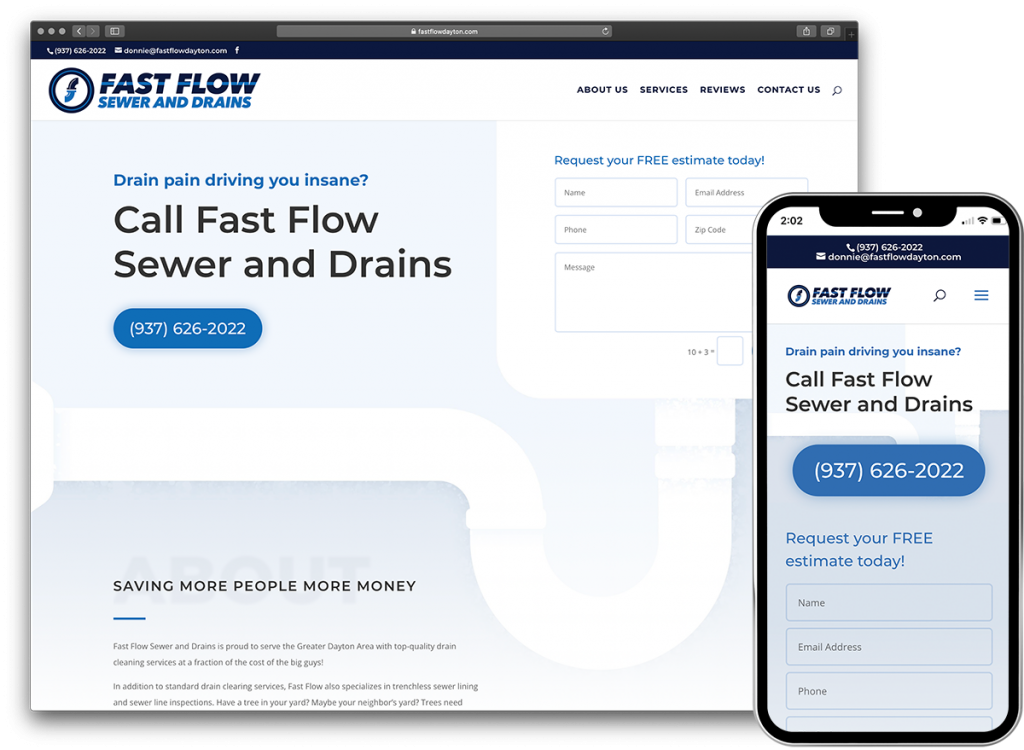 Fast Flow Sewer and Drains website