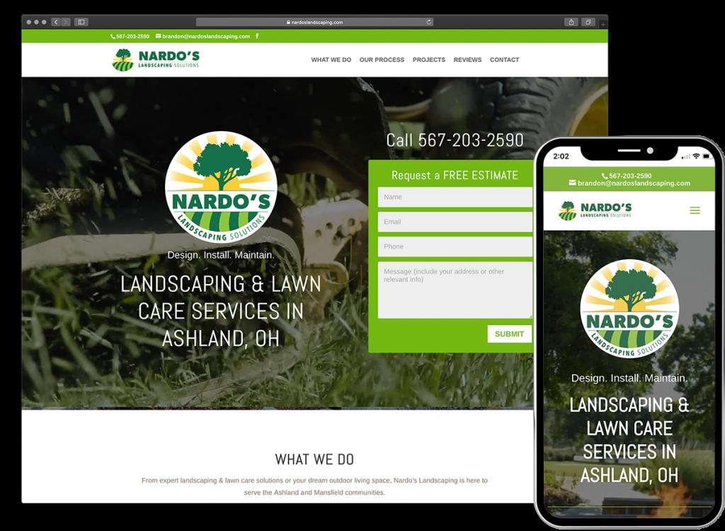 Nardo's Landscaping Solutions website