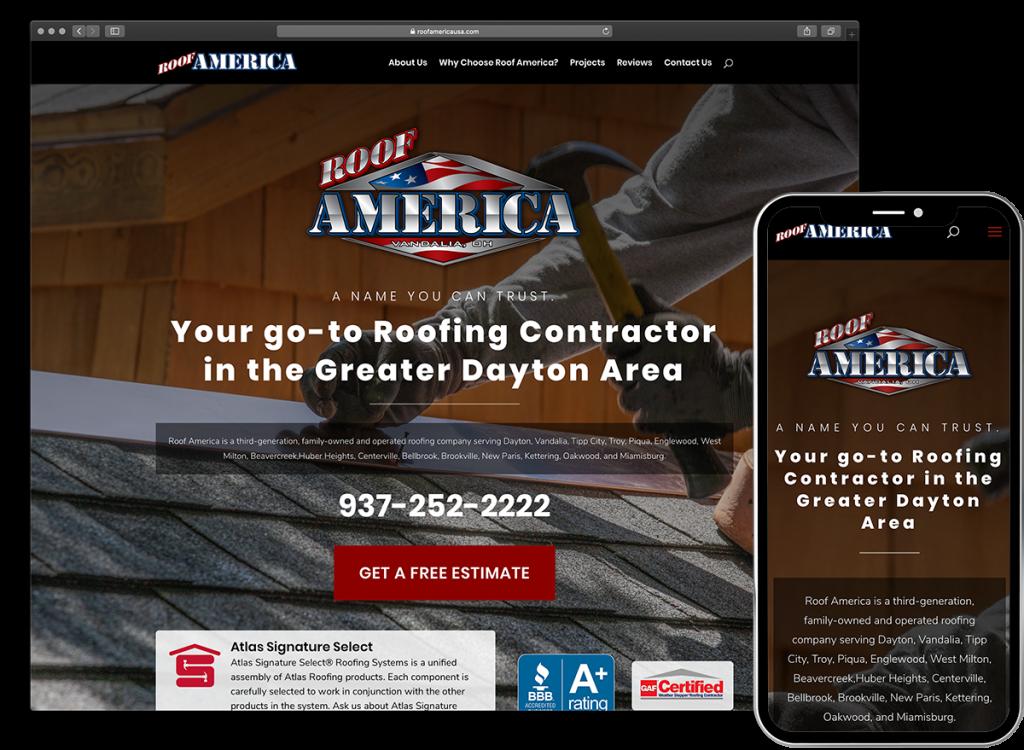 Roof America Website