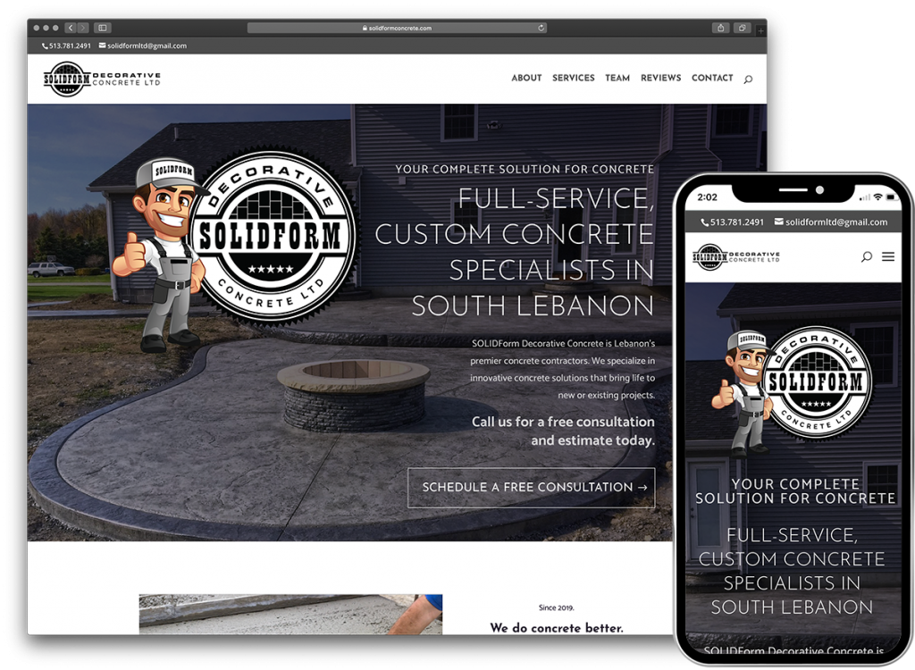 SOLIDForm Concrete website