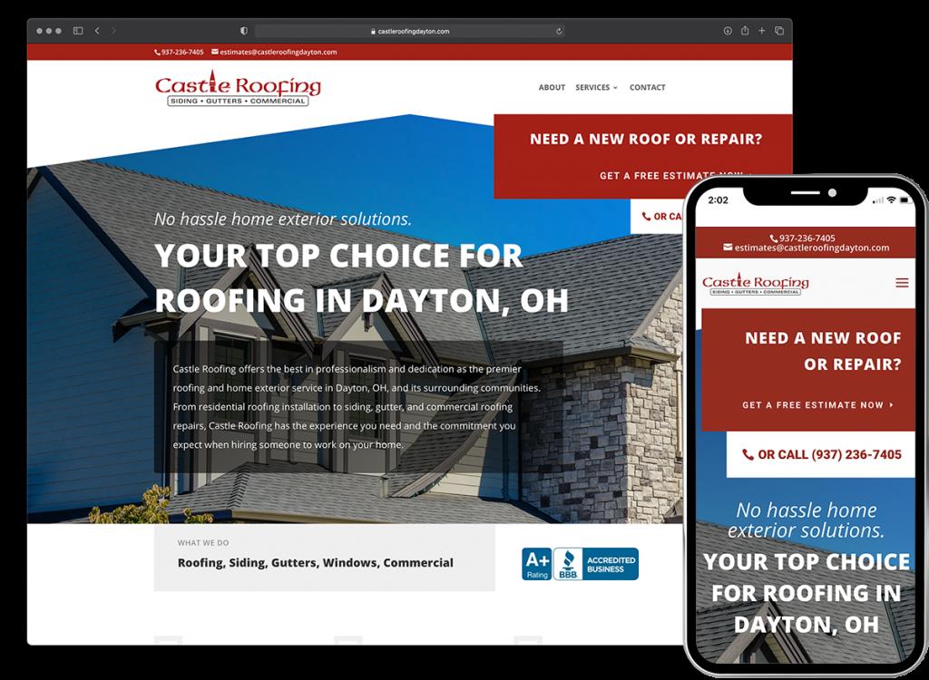 Castle Roofing website