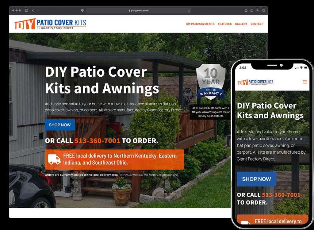 DIY Patio Cover Kits website