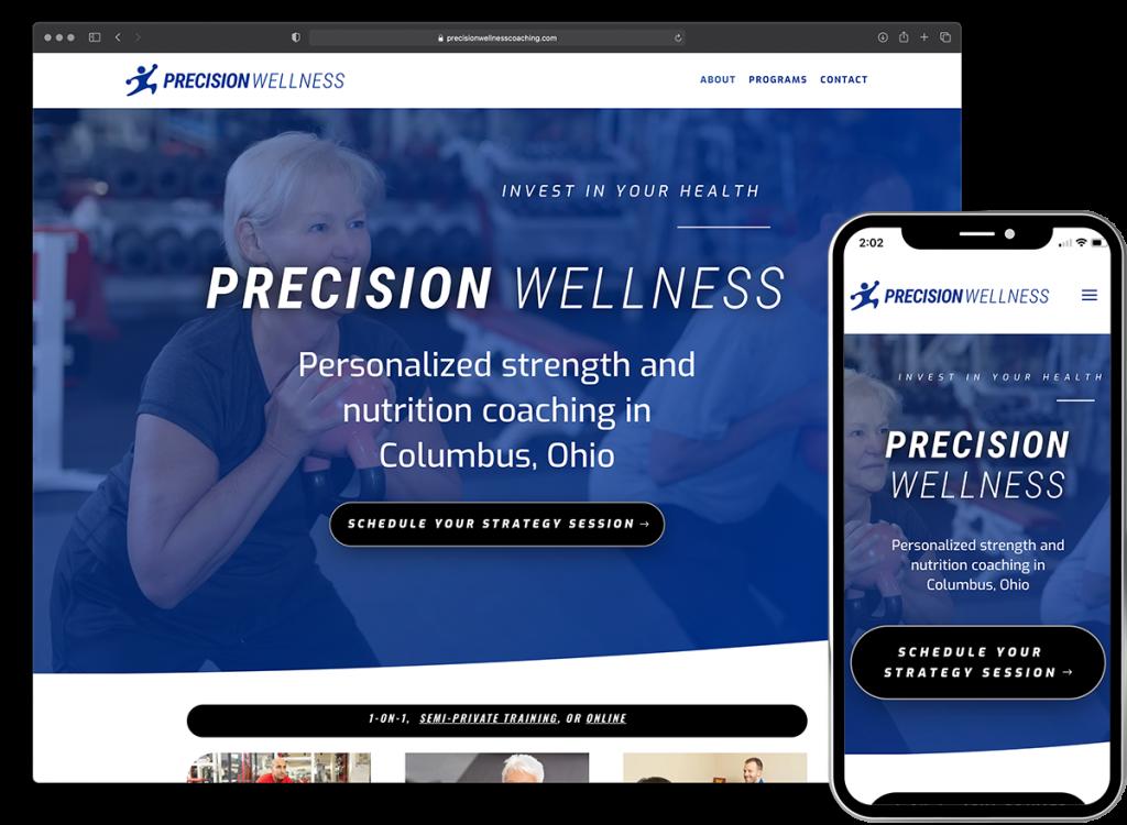 Precision Wellness website