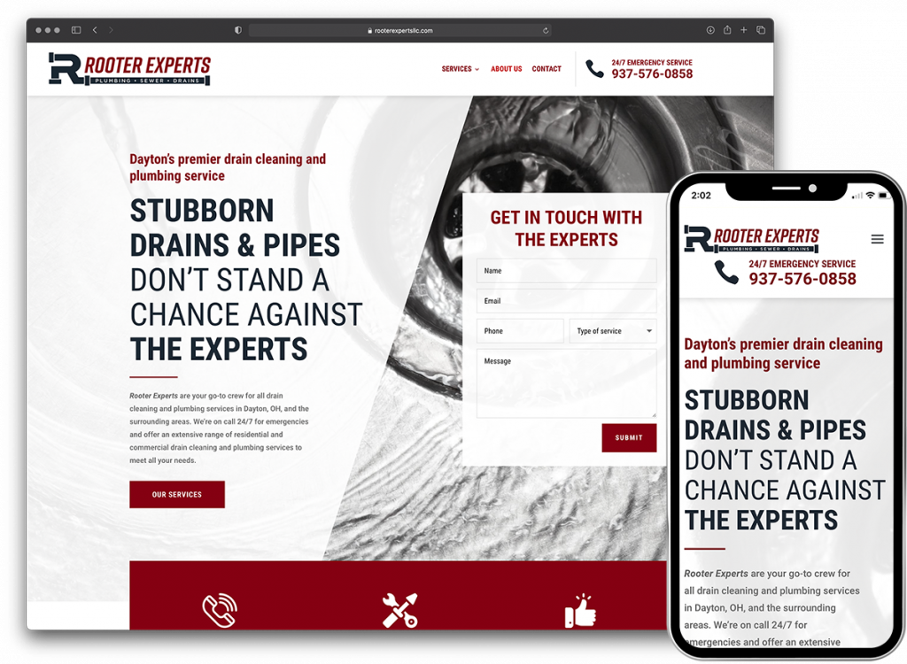 Rooter Experts website