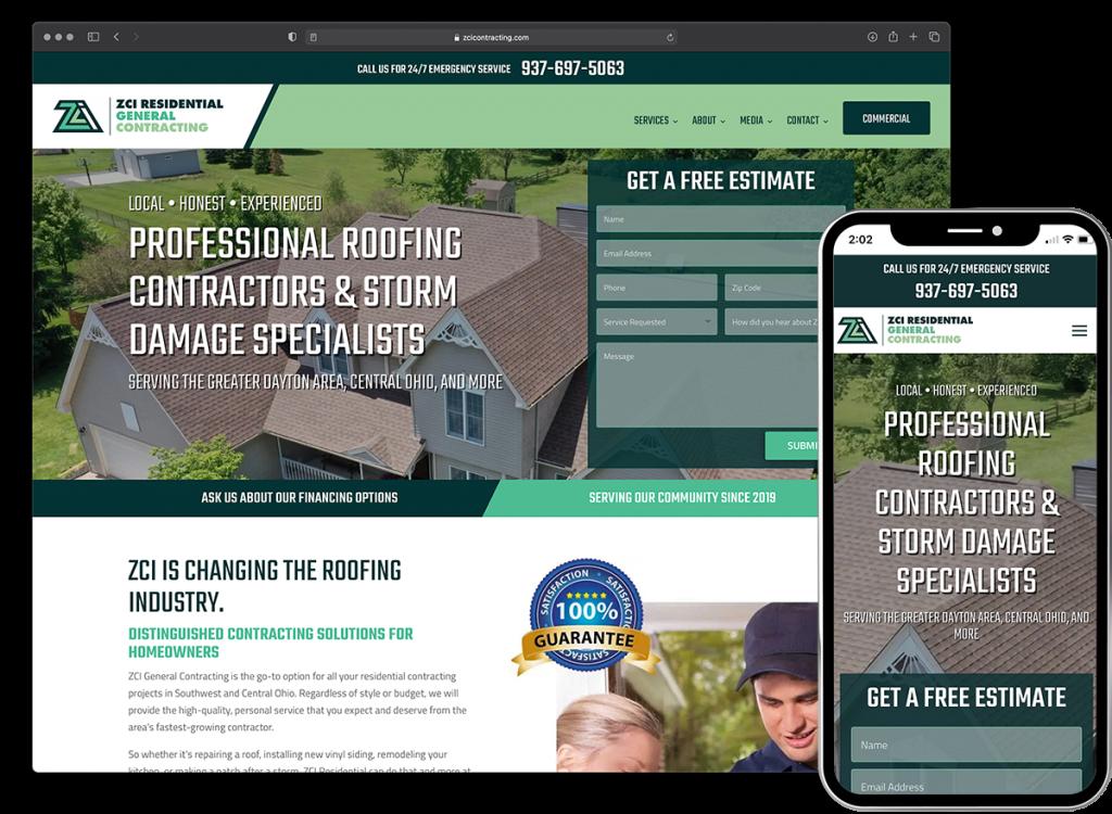 ZCI General Contracting website