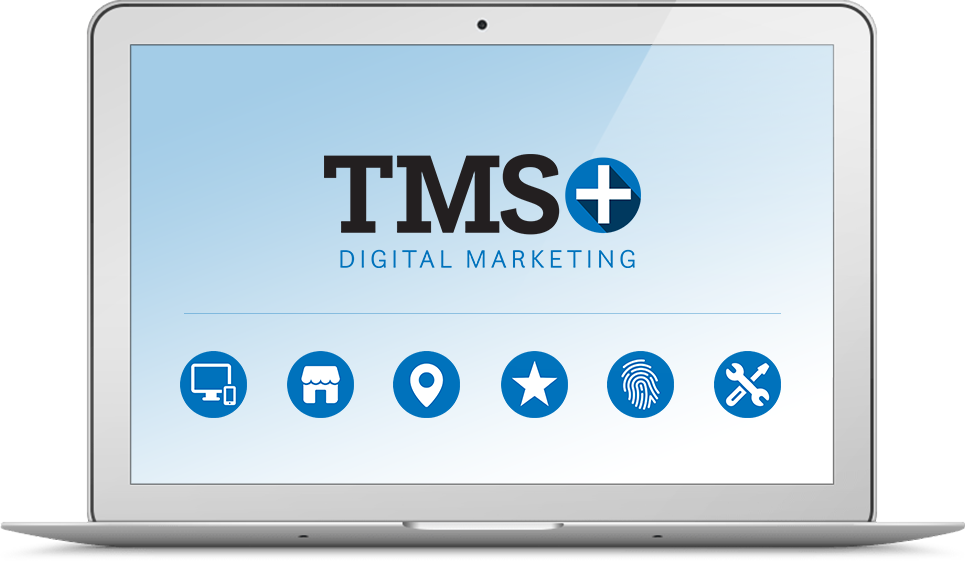 Laptop with TMS+ Digital Marketing